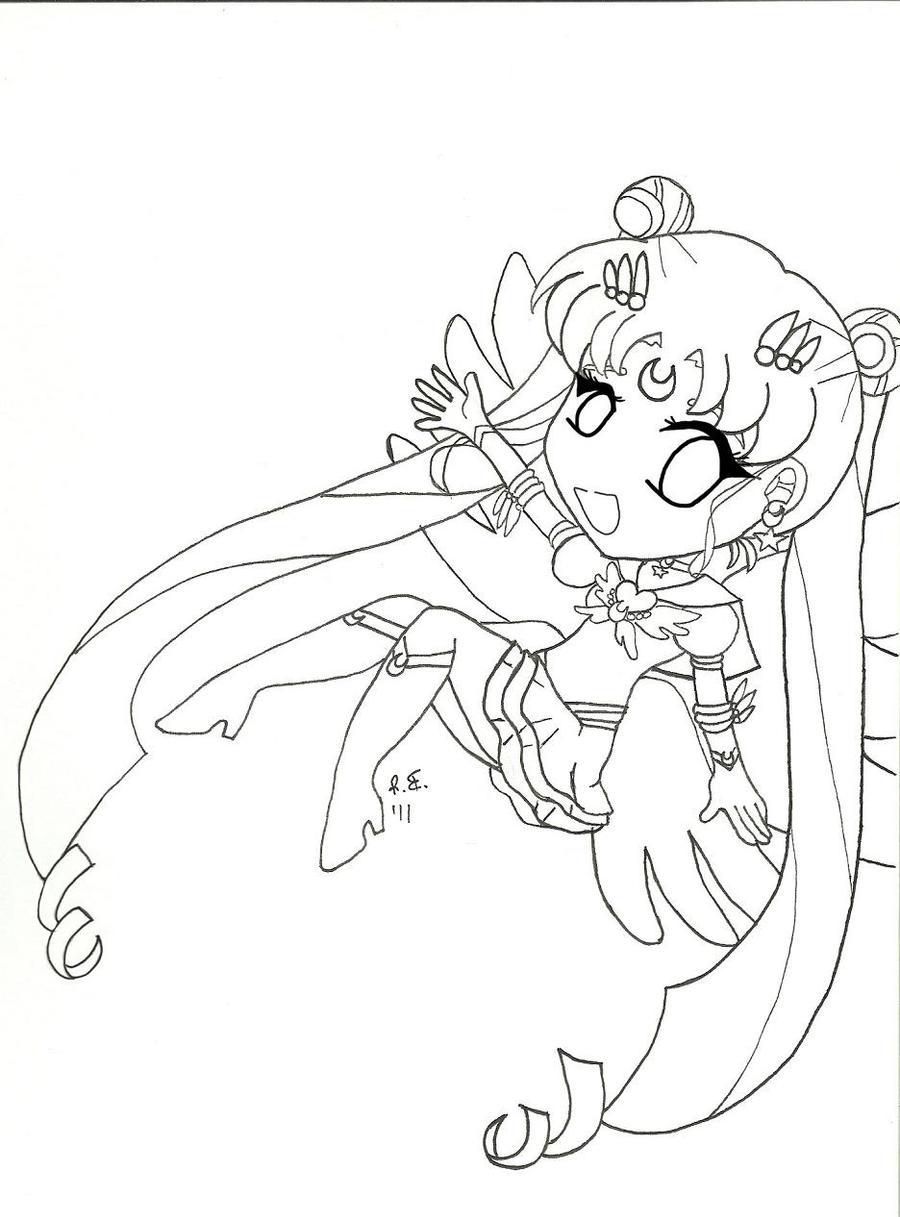 Chibi Eternal Sailor Moon by GangstaCakes on DeviantArt
