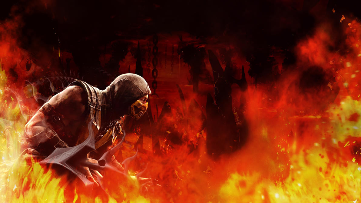 mortal kombat x: scorpion wallpaper 1920 x 1080kothanos on