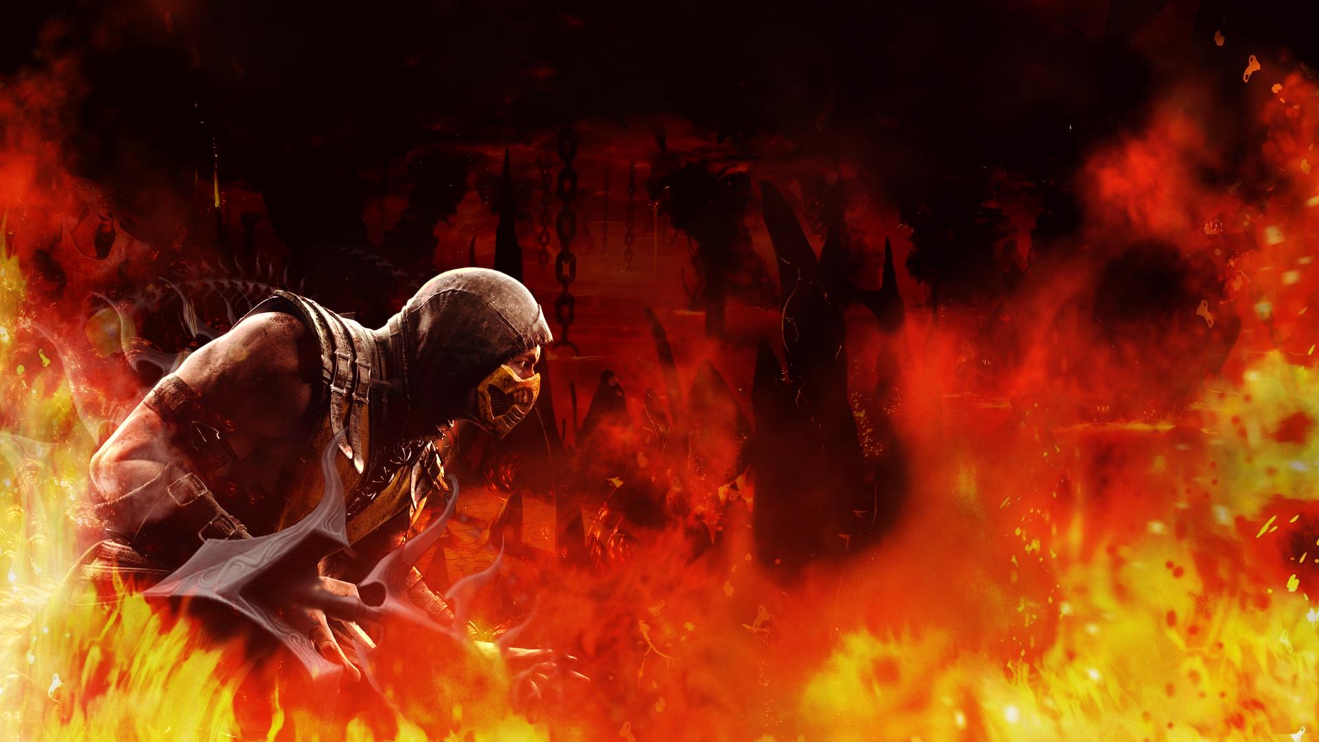 Mortal Kombat X Scorpion Wallpaper 1920 1080 By Kothanos