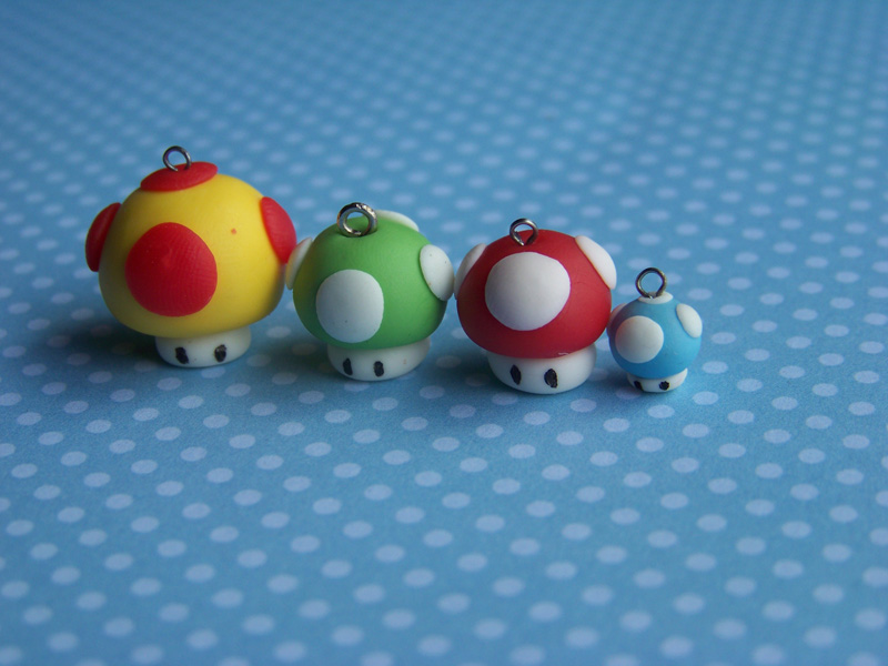 Mario mushrooms by CuteTanpopo