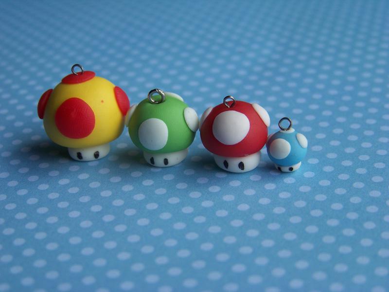 Mario mushrooms by CuteTanpopo