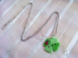 4 Leaf Clover Necklace by CuteTanpopo