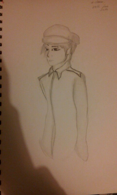 simple drawing of a Korean soldier by Jayyvon