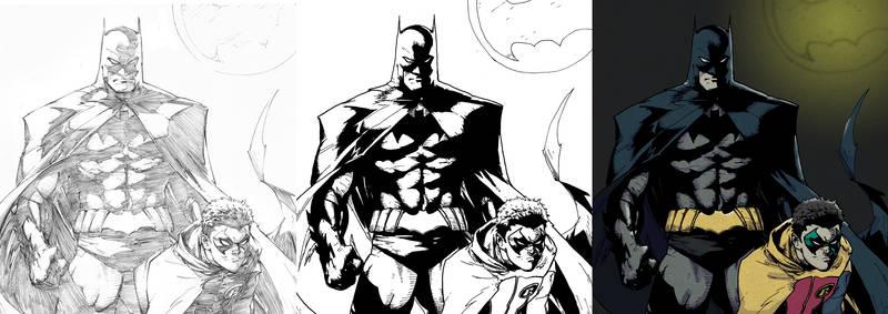Inking and Coloring Greg Capullo's Batman