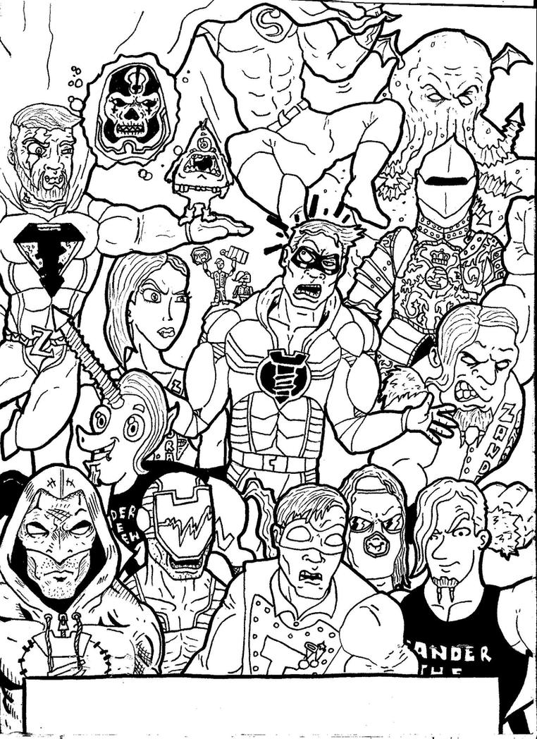 Wrestle CRISIS wraparound pt2 by ChainsawComics