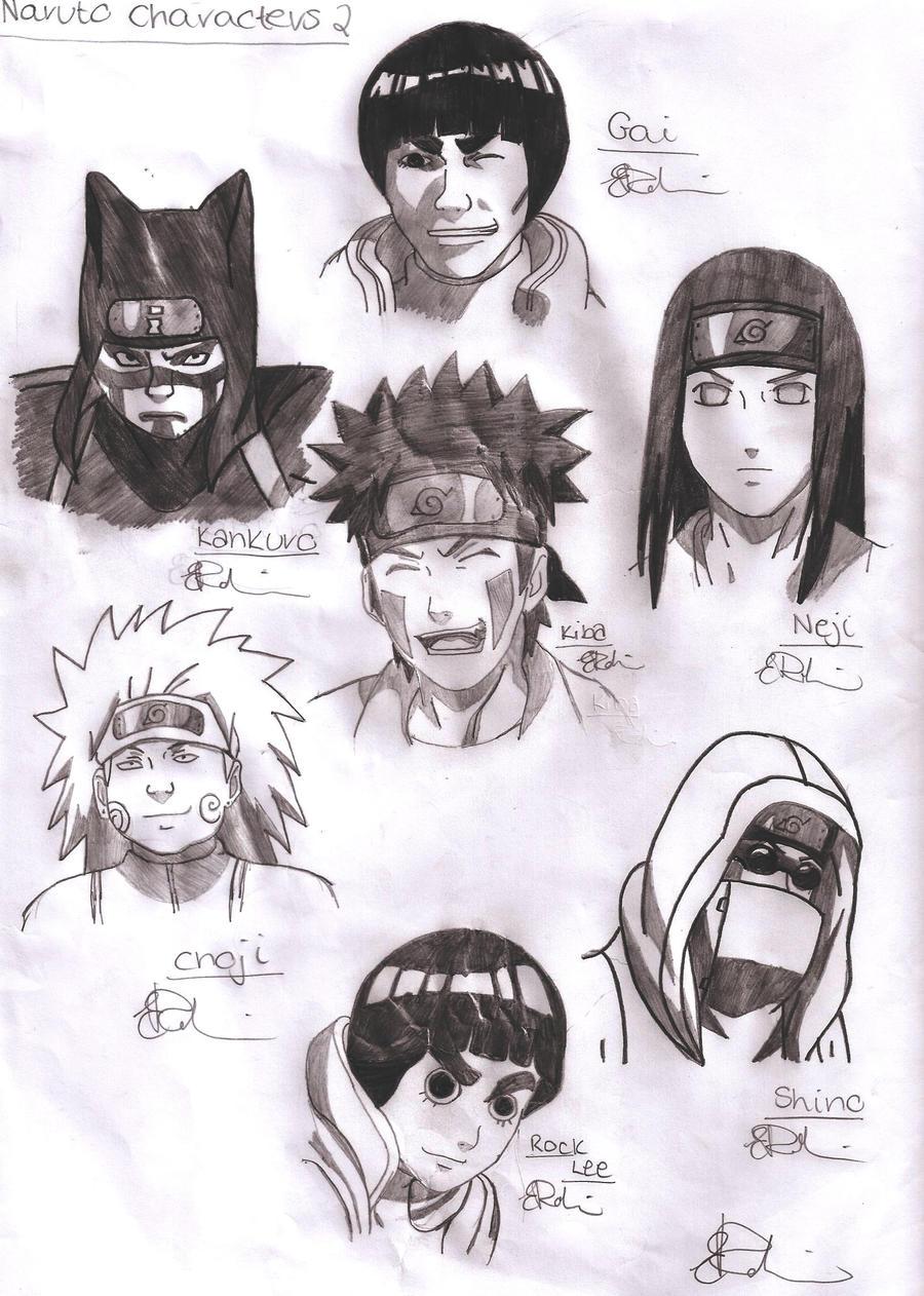 Naruto Shippuden Characters 2 By Gaara240497