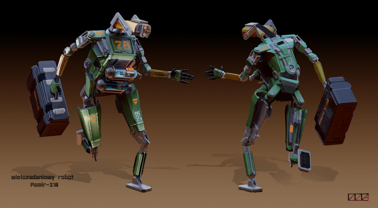 Robot design by Oktargai