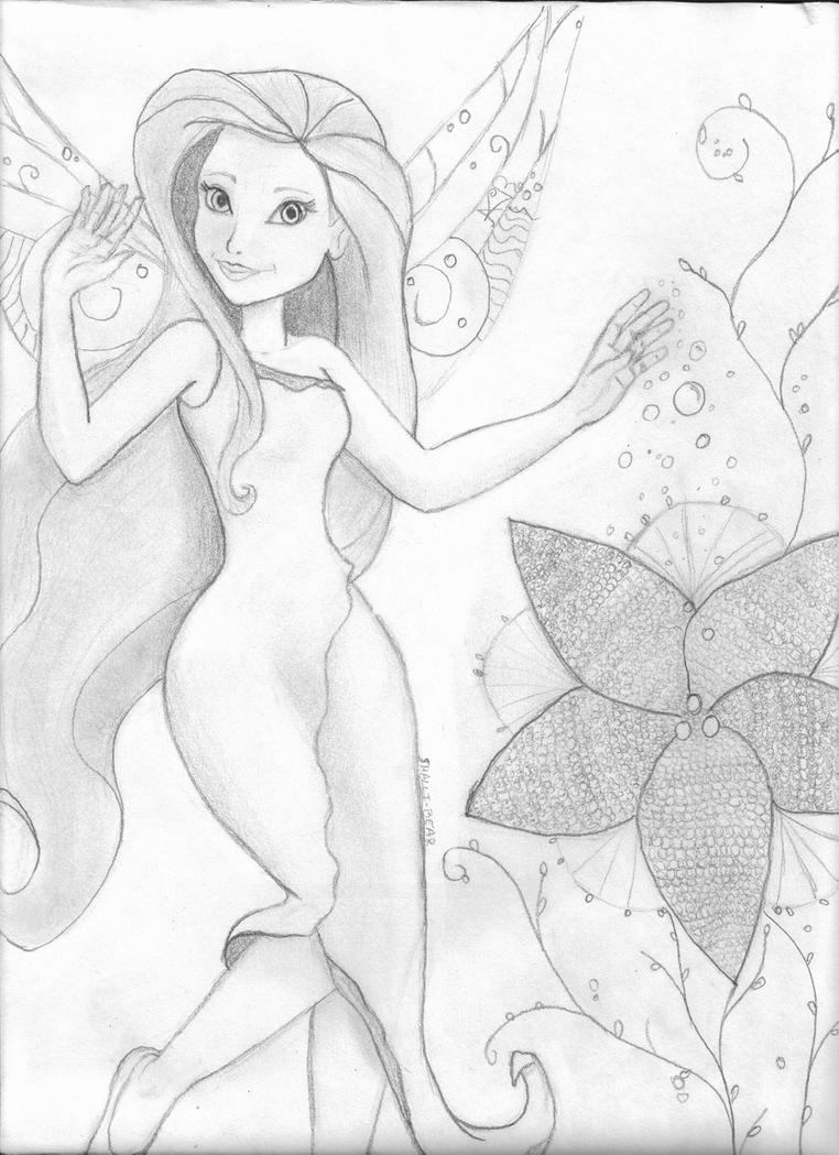 Neo pics foto silvermist and tinkerbell coloring page for Silvermist coloring pages