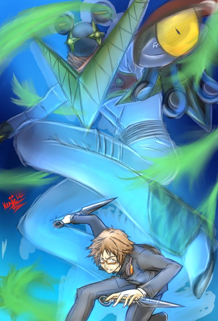 Persona 4: Jiraiya and Yosuke by Kenji42