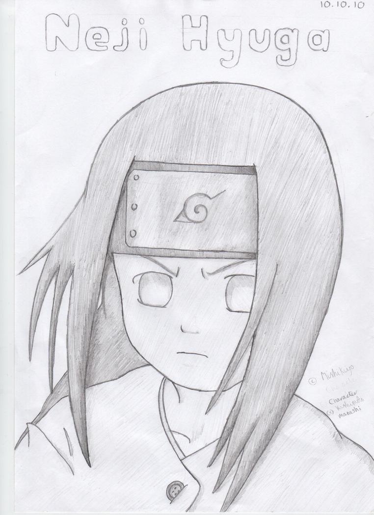 How To Draw Neji Byakugan