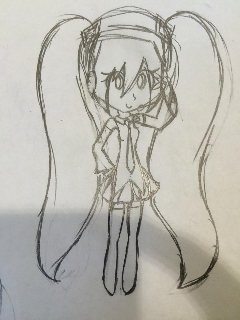 A Miku I Drew In Class by PowerOfTheHeart