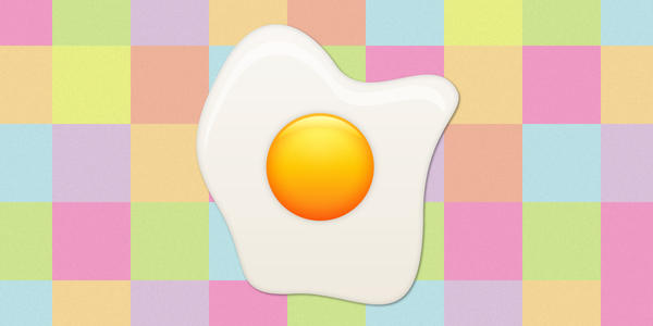 Fried egg by VectorDay