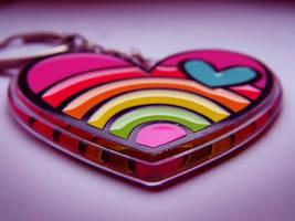 rainbow heart by buttonik