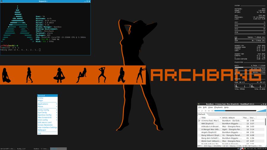 Arch Linux Openbox by Underground-Sound