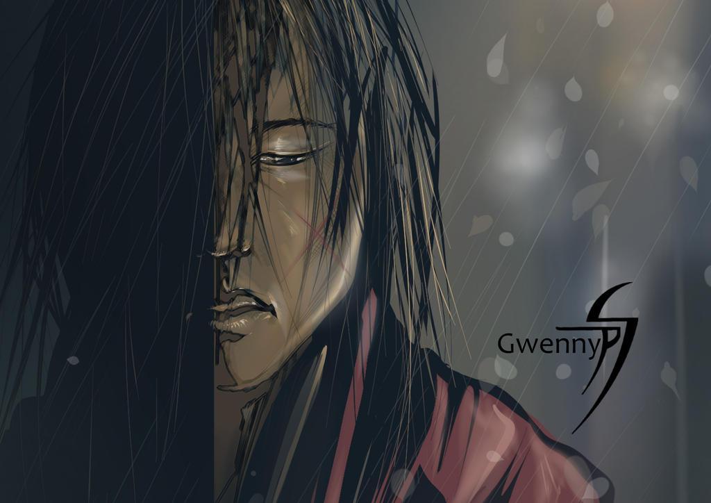 Kenshin Close up by gwennyp