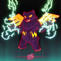 Electric winged bear