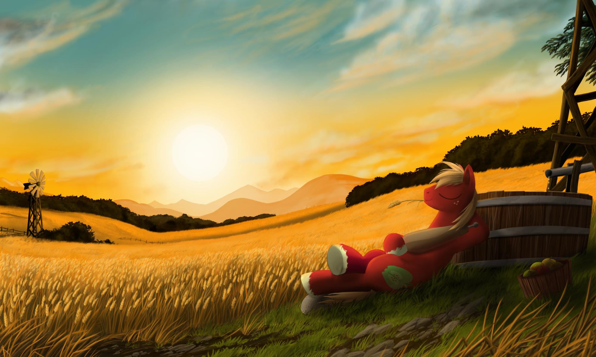 Bigmac Sunset by Cerebre-Arkor