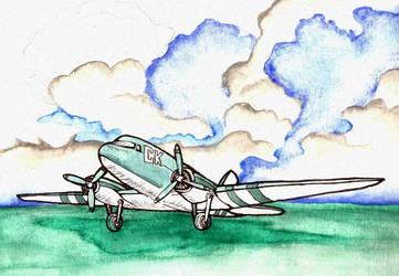 Plane by zenobia