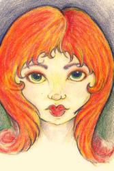 Red Head by zenobia