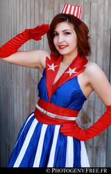 USO Girl - Captain America