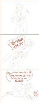 [phone art] Geralt + Lambert