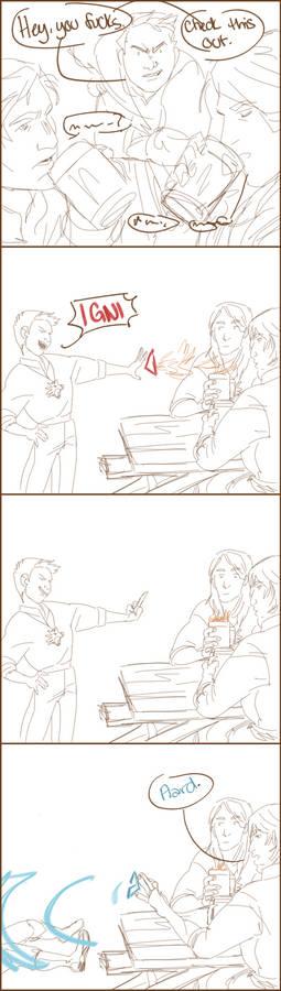 [phone art] Geralt + Eskel + Lambert