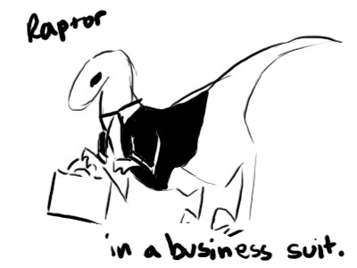 Raptor in a Business Suit by LORD-BIG-DOGGIE