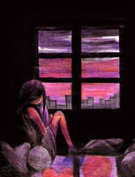 The Window Beside The Girl by kayeah