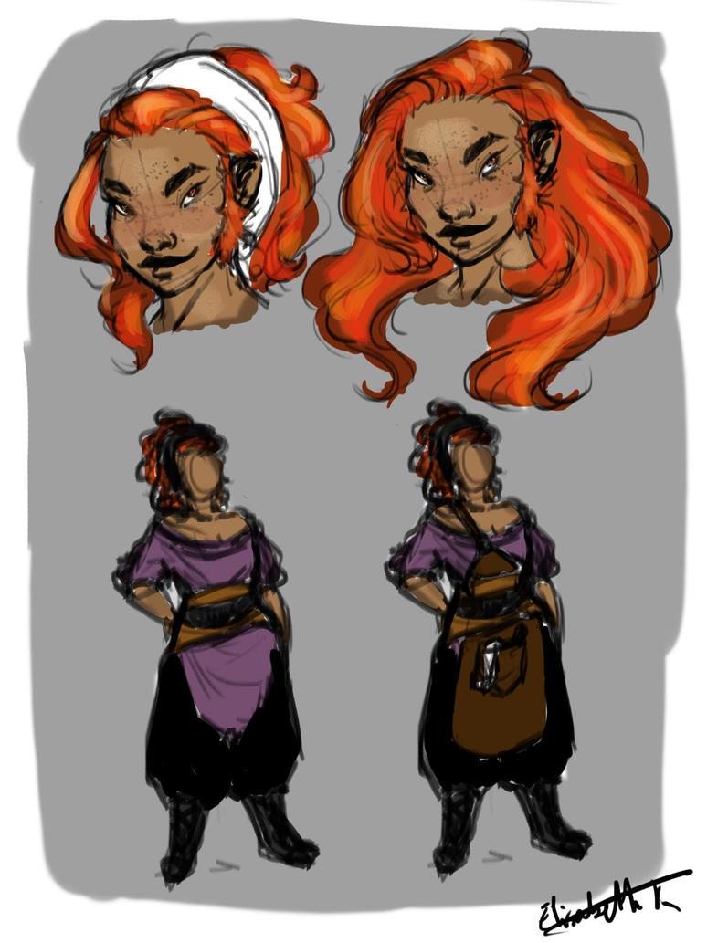 Dwarven smith sketches by lisannexd