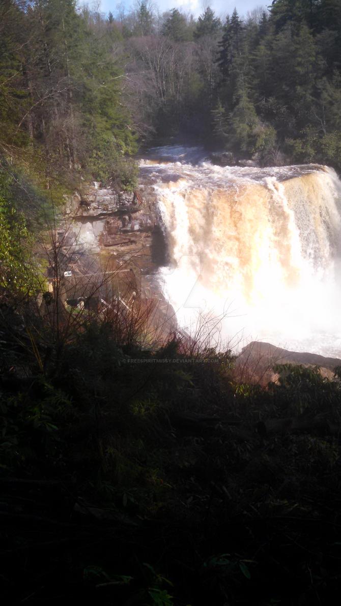 Rainbow at the falls by freespiritmissy