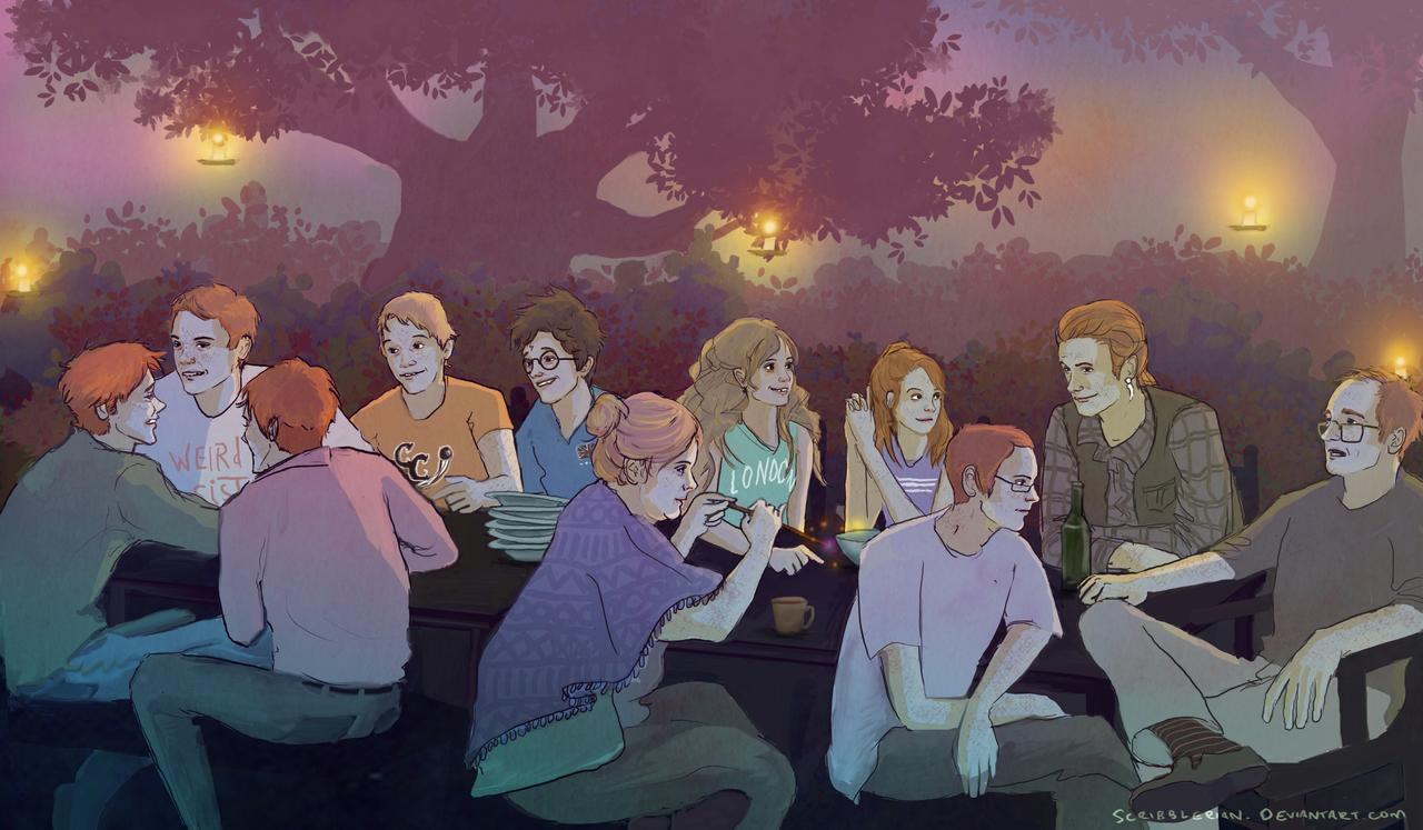 The Weasleys by scribblerian