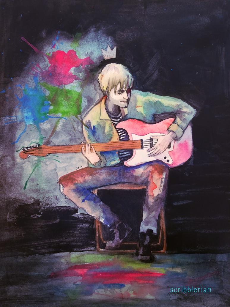 King Cobain by scribblerian