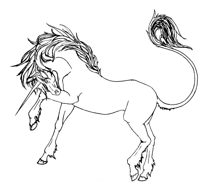 Line Art Unicorn : Vale unicorn lineart by eclipse on deviantart