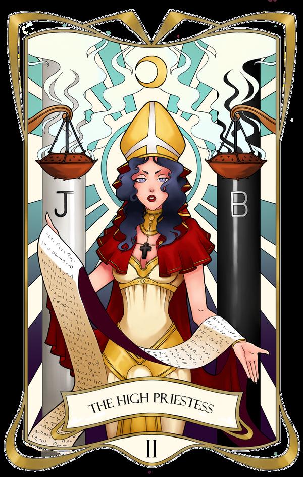 Tarot Card II - The High Priestess by RoteGruetze