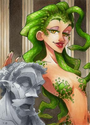 ACEO #42 Medusa