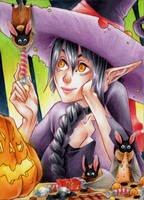 ACEO #58 Halloween by RoteGruetze