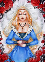 ACEO #63 Briar Rose by RoteGruetze