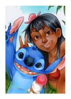 ACEO #66 Lilo und Stitch
