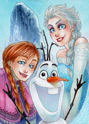 ACEO #84 Frozen by RoteGruetze