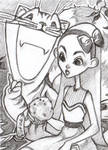 ACEO Sketch - Alice in Wonderland