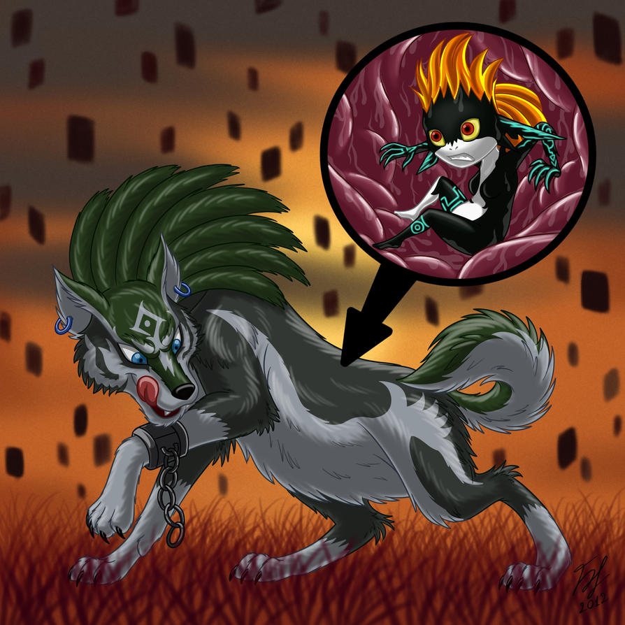 Wolf Link Vores Imp Midna By Goldy--Gry On DeviantArt