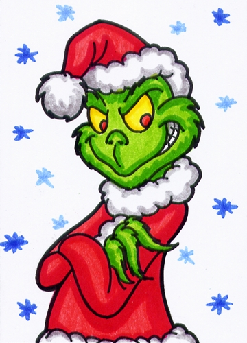 aceo grinch by goldy gry on deviantart the grinch who stole christmas clipart mr grinch clipart