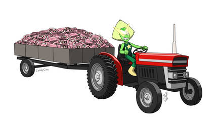 Peridot On A Tractor by Goldy--Gry