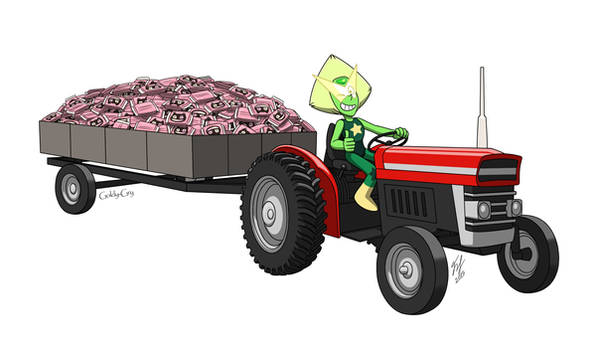 Peridot On A Tractor