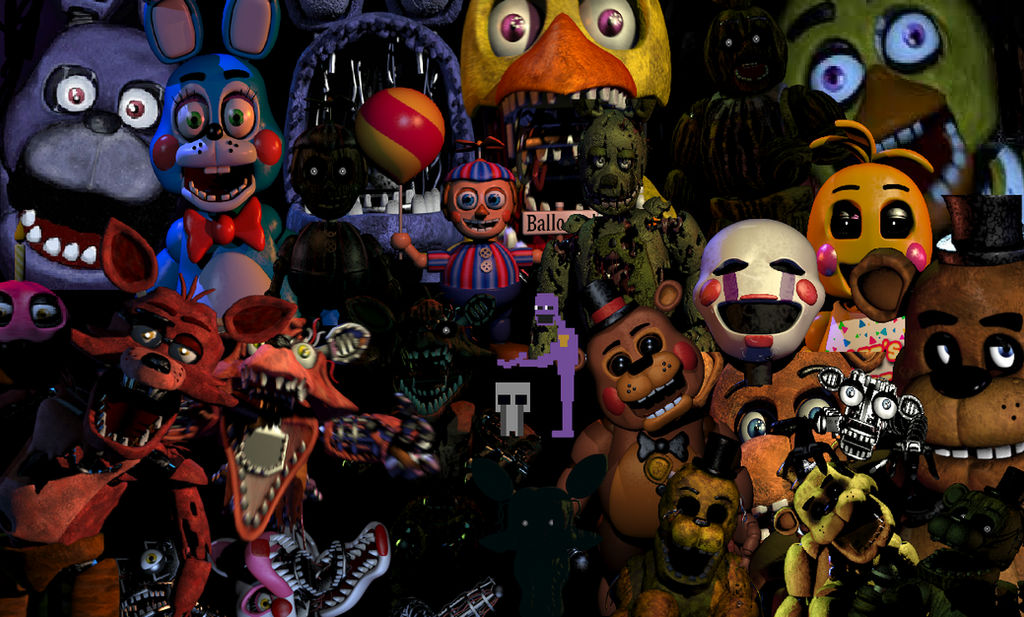 All FNAF Characters by EllyProductions49 on DeviantArt