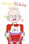 Birthday Card To: Saitama From: Manako