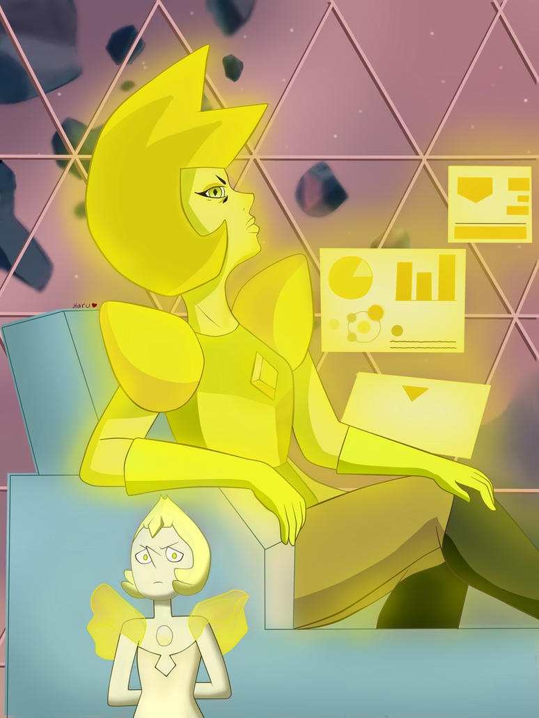 I really loved Yellow Diamond, she looks sooo majestic (on her own special way xD) I thought she'd be more scary and indifferent with her servants but I think she is a good leader after all c: (Des...