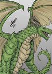 [COMM] Geoffroy dragon form by Jefra