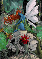 Fairy in the skull by Jefra