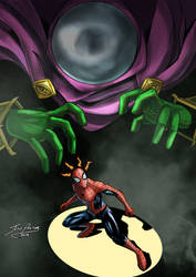 Spiderman vs Mysterio by Jefra